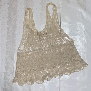 Lace cover up top